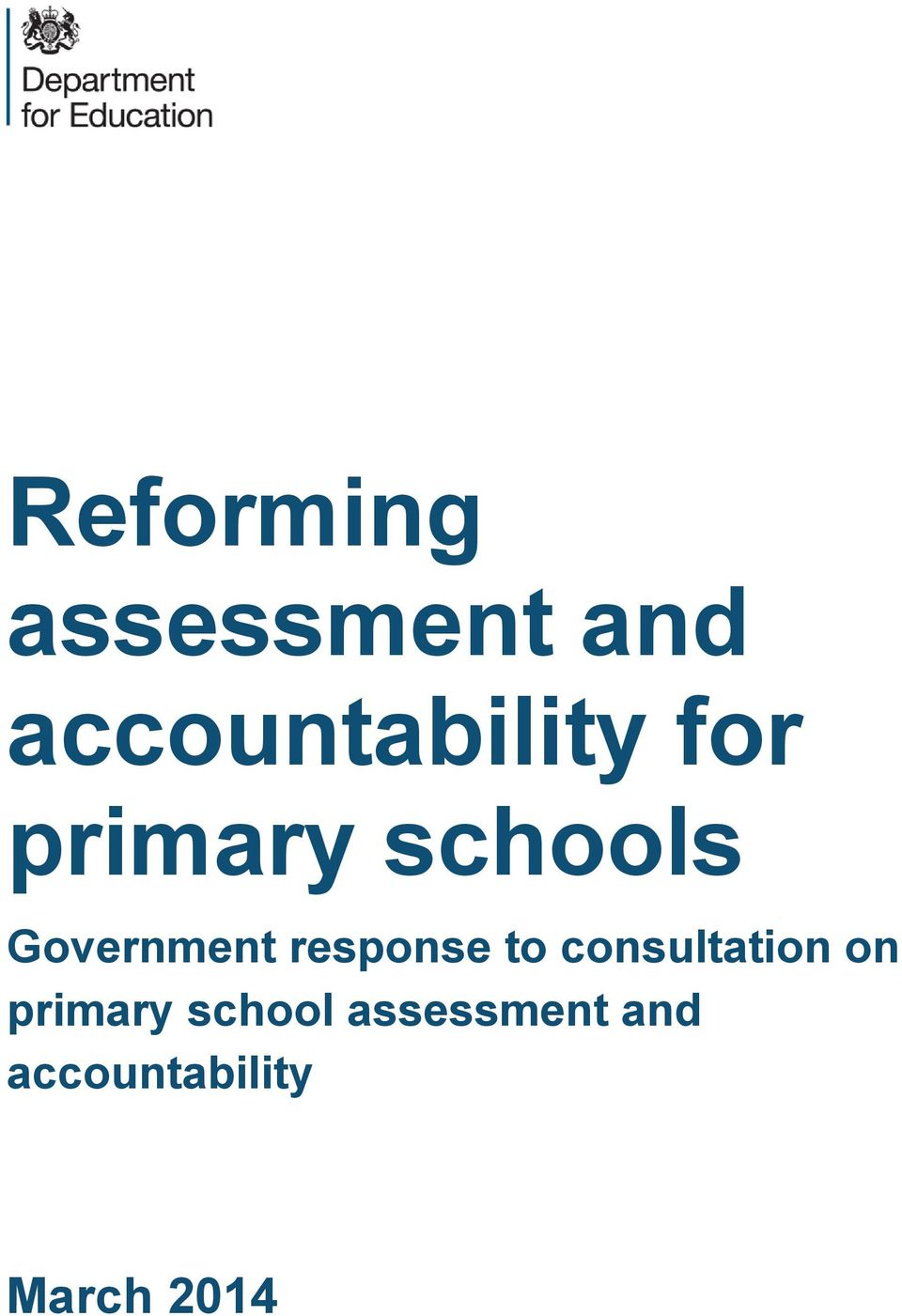 Government response to consultation on