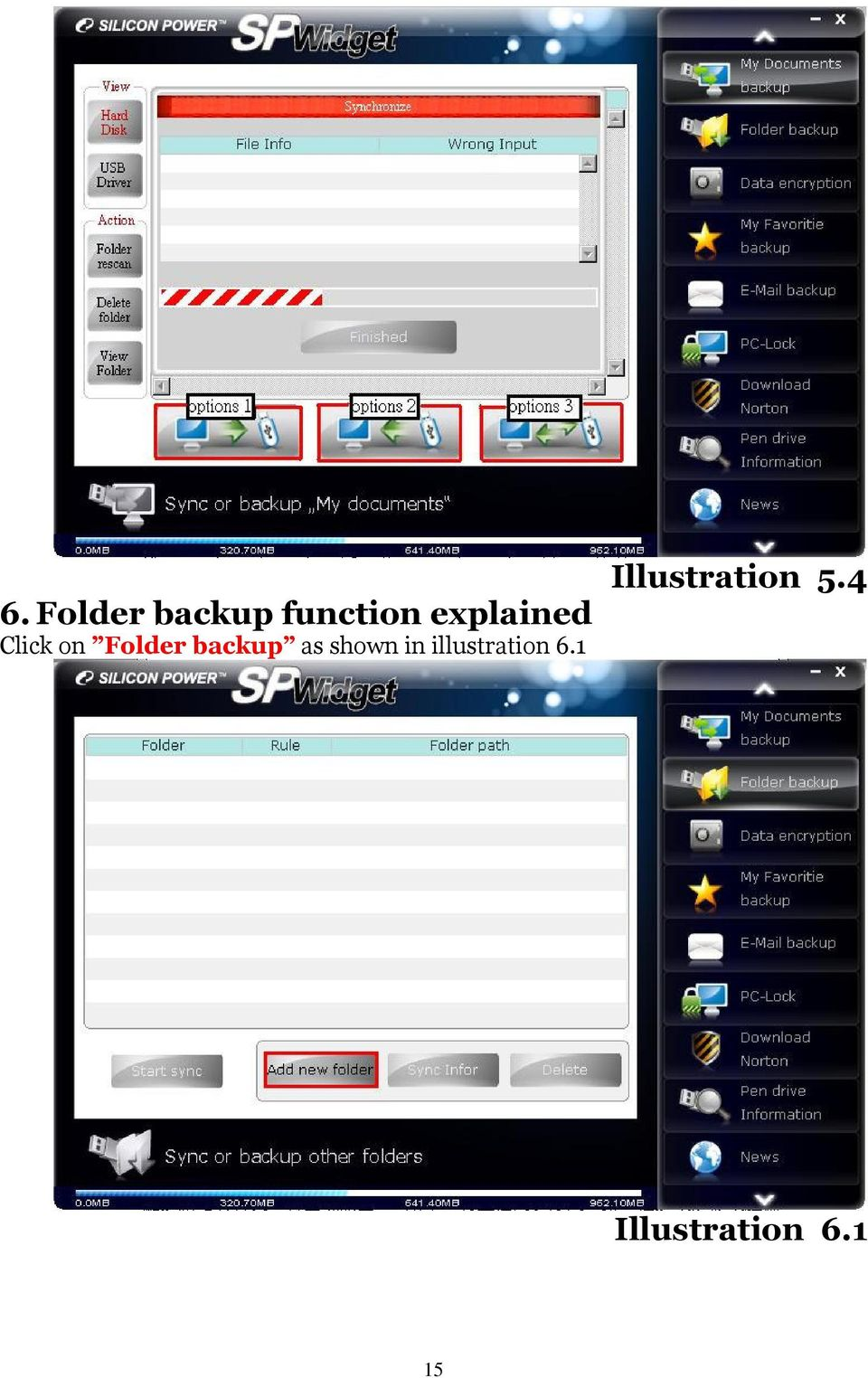 backup as shown in