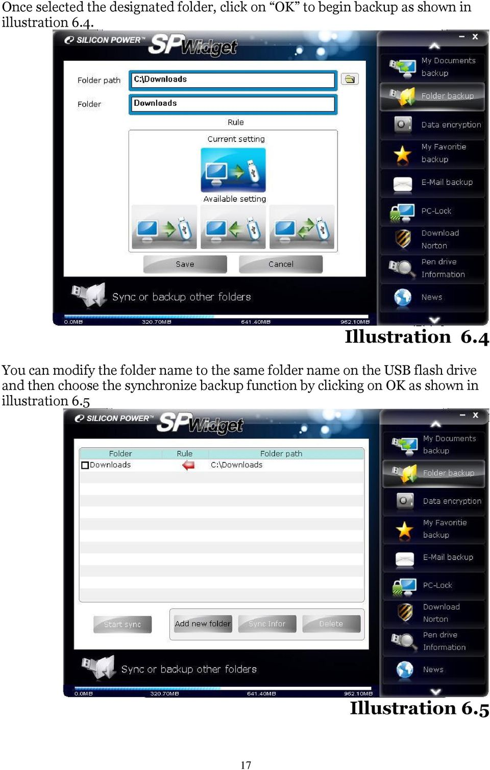 4 You can modify the folder name to the same folder name on the USB flash