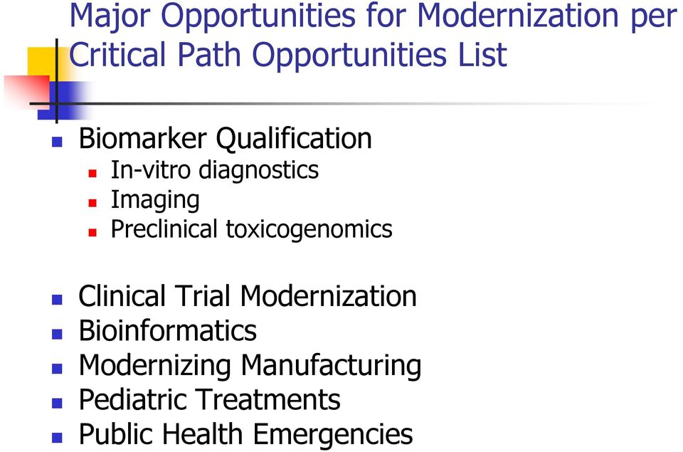 Imaging Preclinical toxicogenomics Clinical Trial Modernization