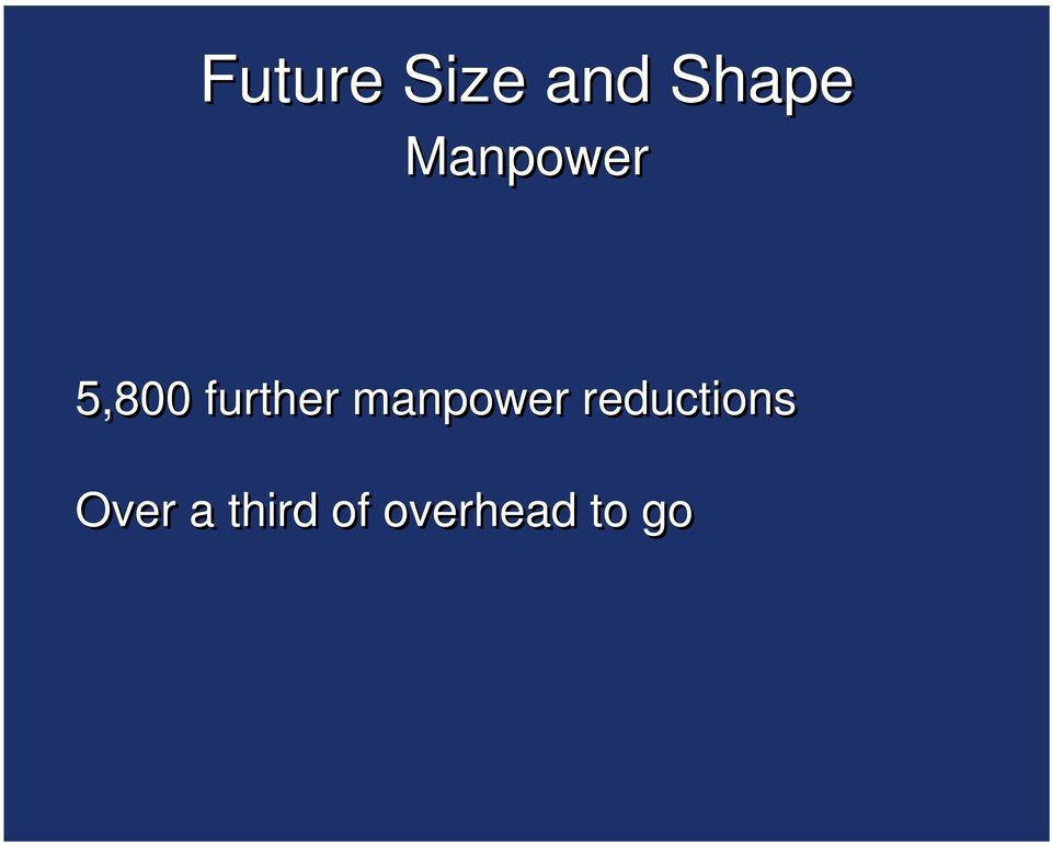 manpower reductions