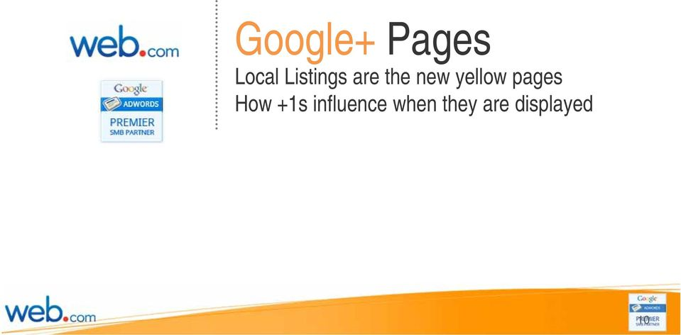 yellow pages How +1s