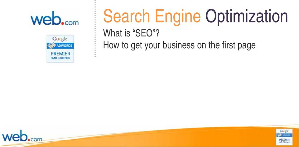 SEO? How to get your