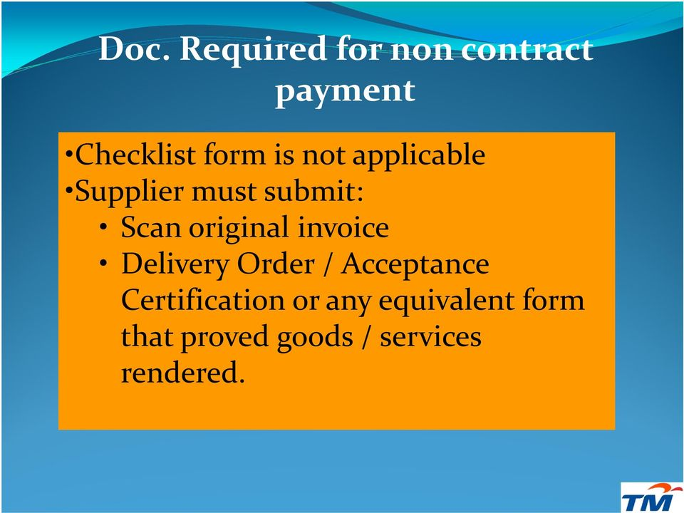 invoice Delivery Order / Acceptance Certification or