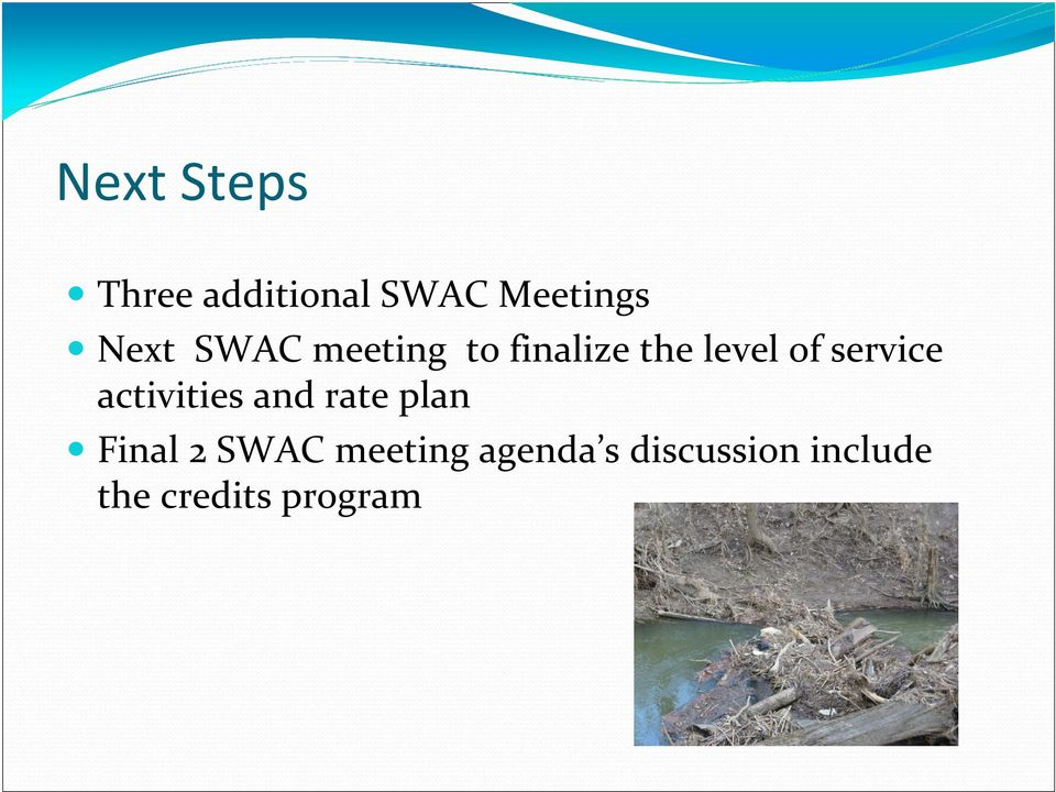 activities and rate plan Final 2 SWAC meeting