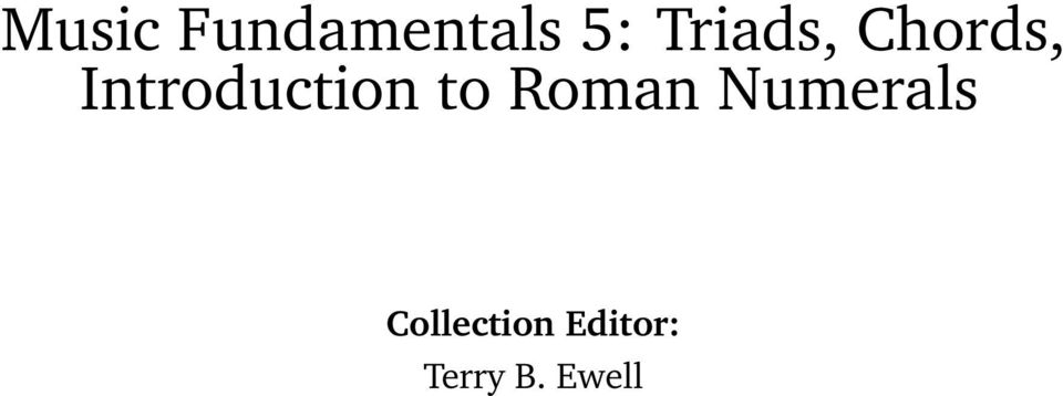 Introduction to Roman