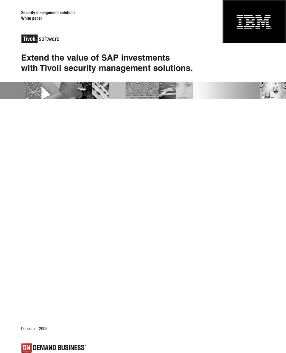 SAP investments with Tivoli