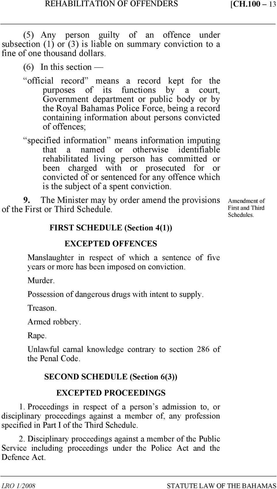 containing information about persons convicted of offences; specified information means information imputing that a named or otherwise identifiable rehabilitated living person has committed or been