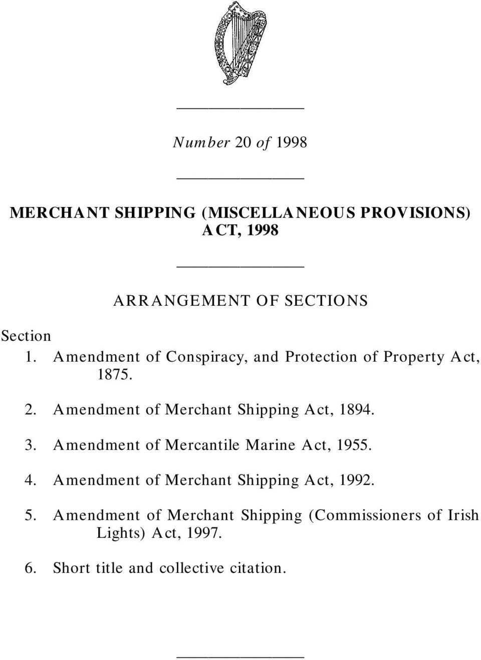 Merchant Shipping Act, 1894. 3. Mercantile Marine Act, 1955. 4.
