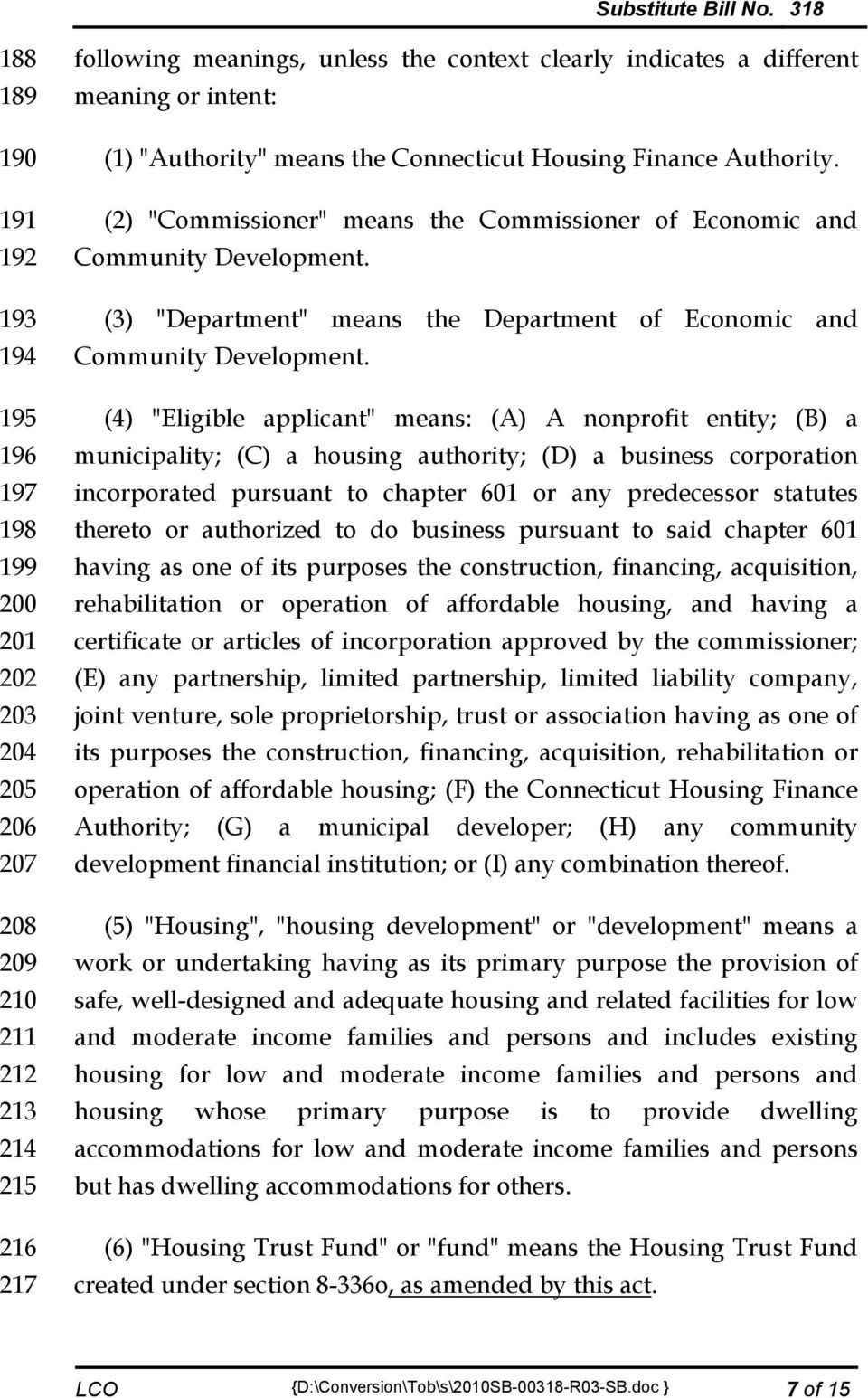 "(3) ""Department"" means the Department of Economic and Community Development."