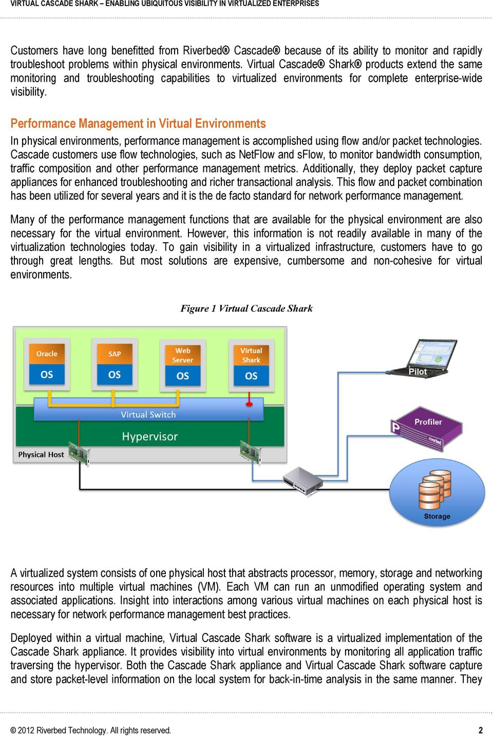 Performance Management in Virtual Environments In physical environments, performance management is accomplished using flow and/or packet technologies.