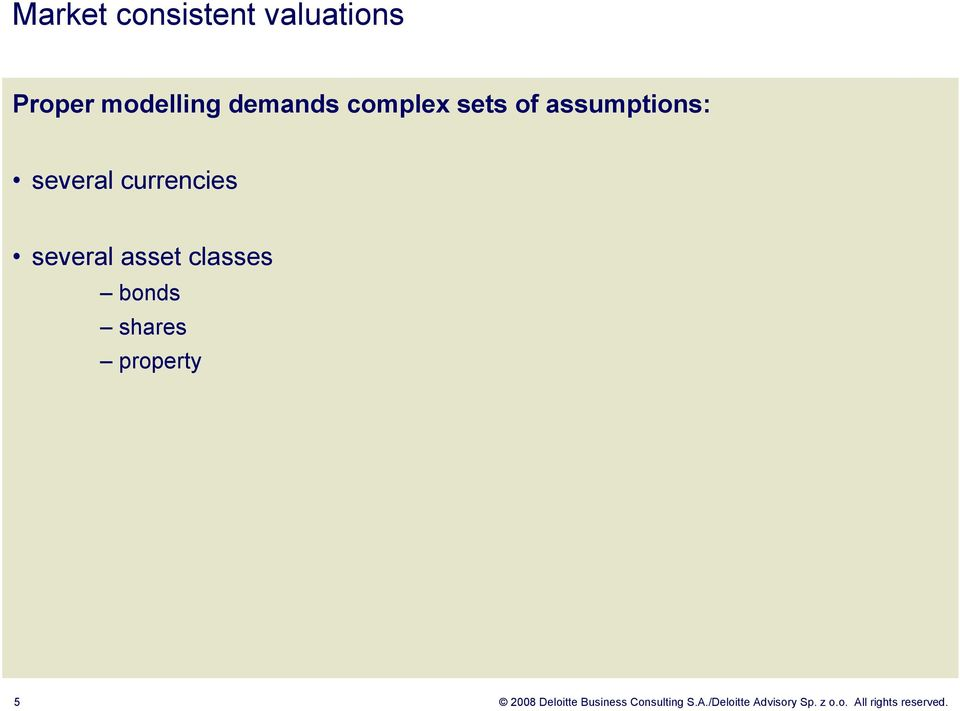 asset classes bonds shares property 5 2008 Deloitte