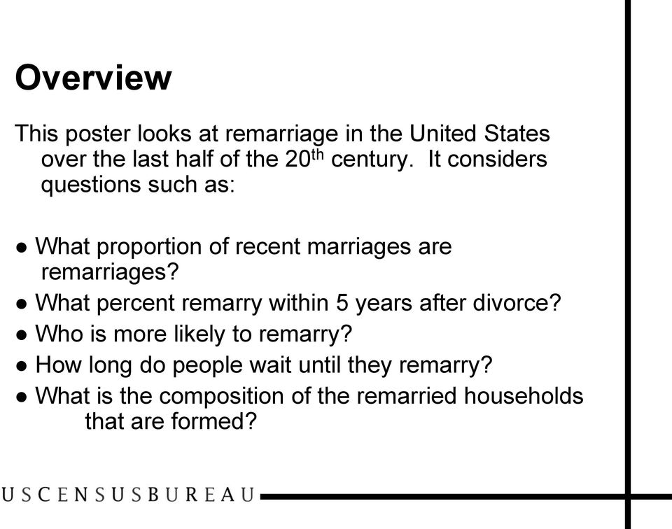 What percent remarry within 5 years after divorce? Who is more likely to remarry?