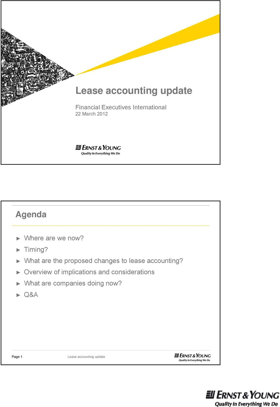 What are the proposed changes to lease accounting?