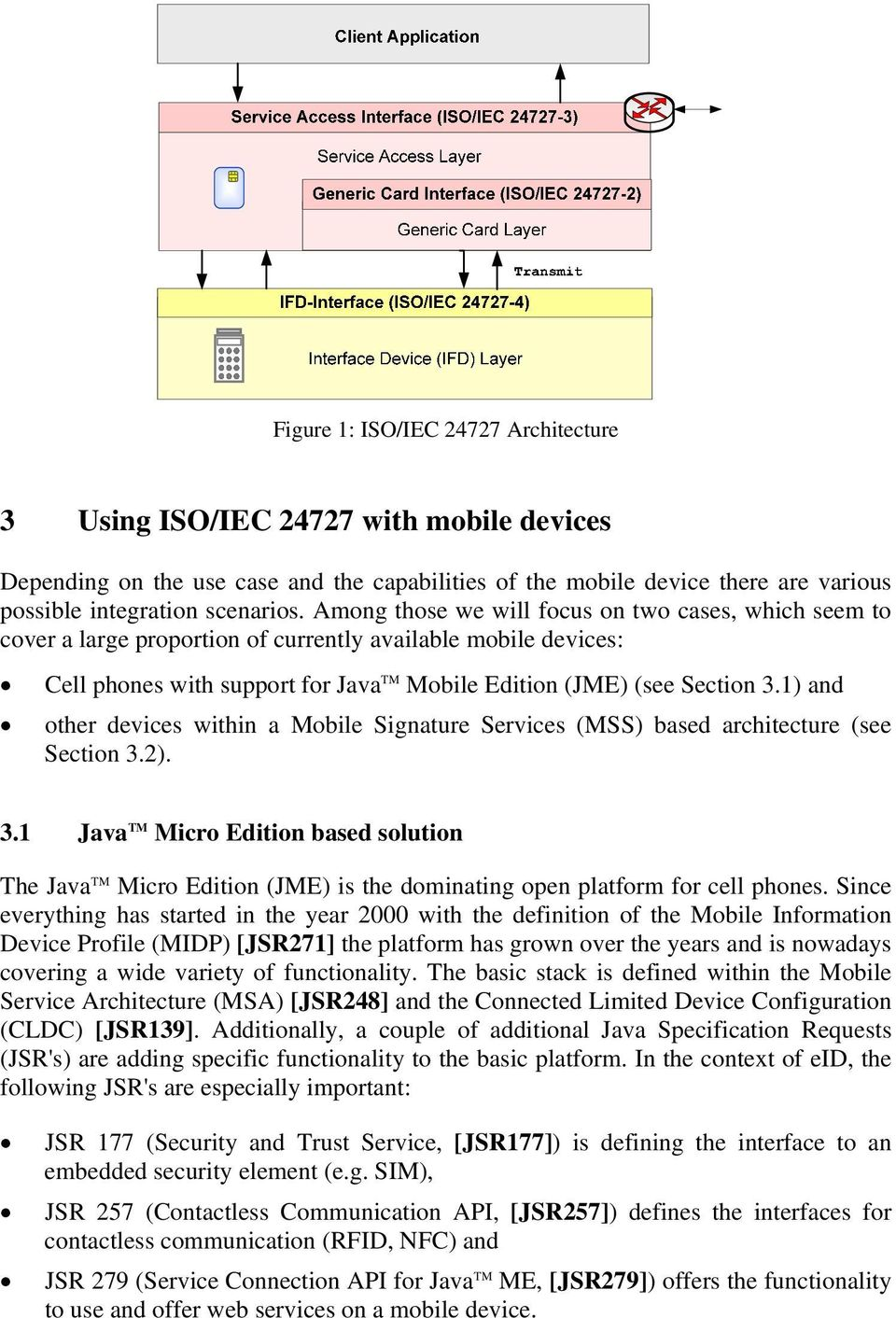 1) and other devices within a Mobile Signature Services (MSS) based architecture (see Section 3.