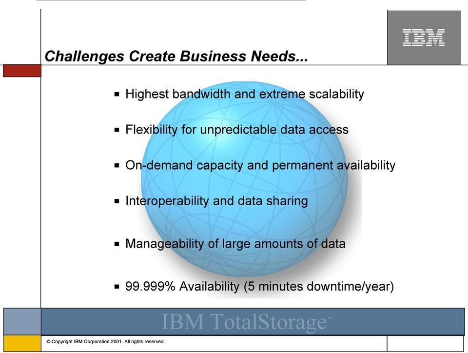unpredictable data access On-demand capacity and permanent availability