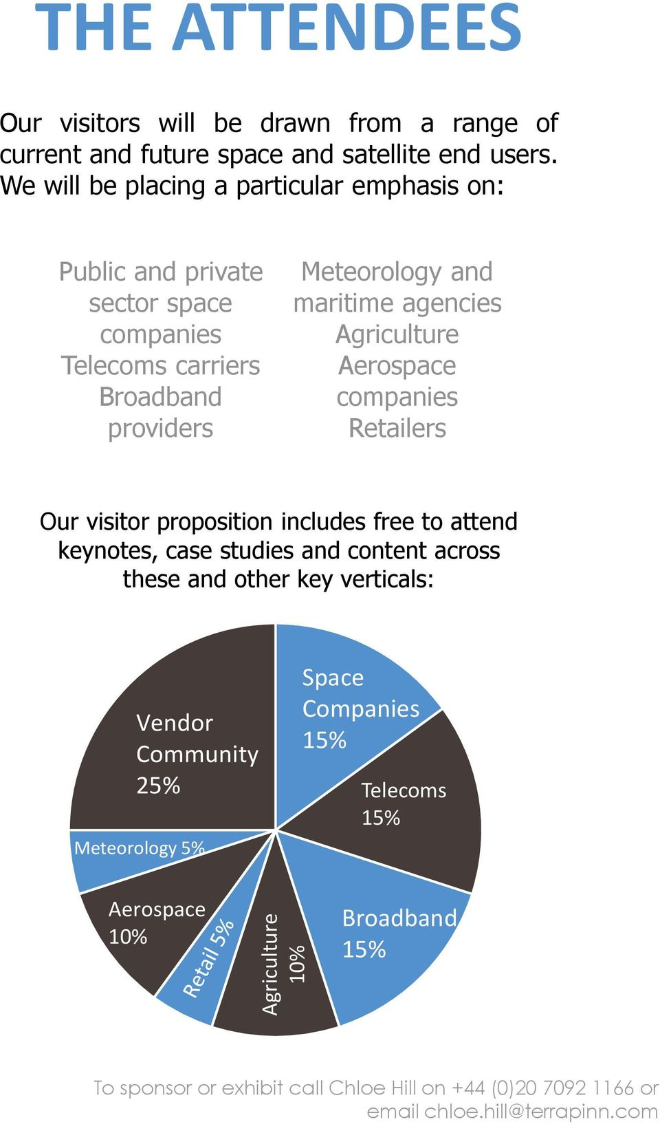 Agriculture Aerospace companies Retailers Our visitor proposition includes free to attend keynotes, case studies and content across these and other key