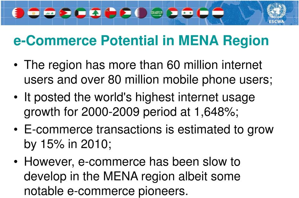 2000-2009 period at 1,648%; E-commerce transactions is estimated to grow by 15% in 2010;
