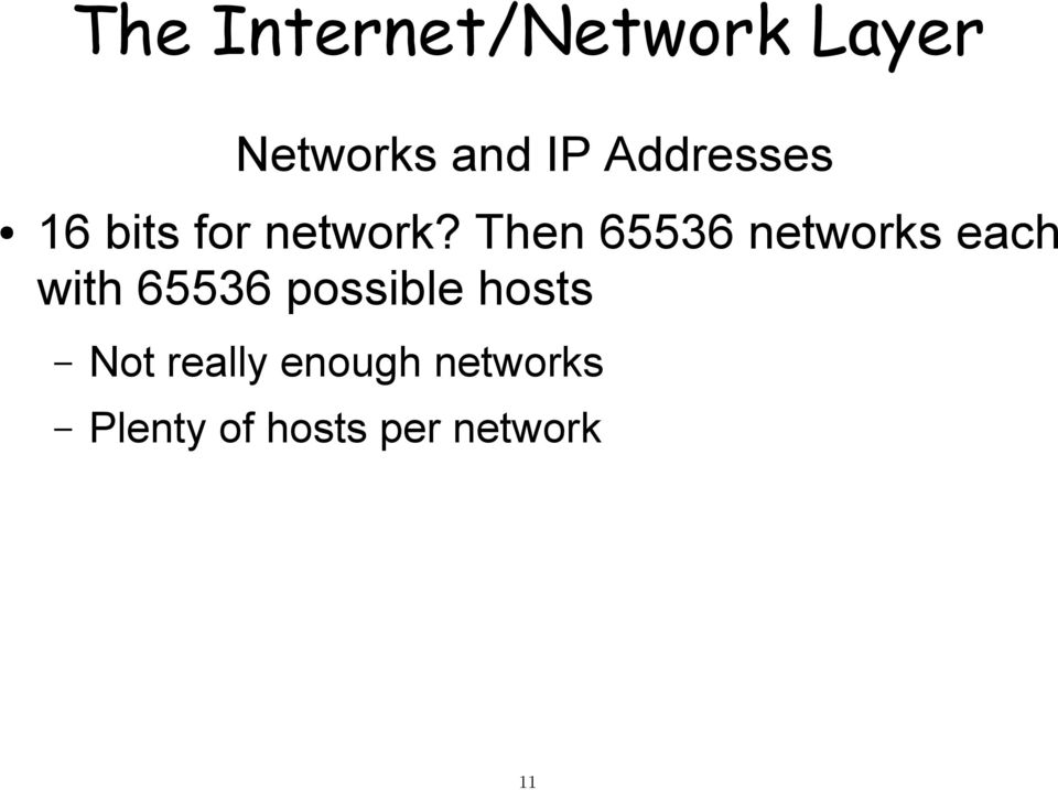 Then 65536 networks each with 65536