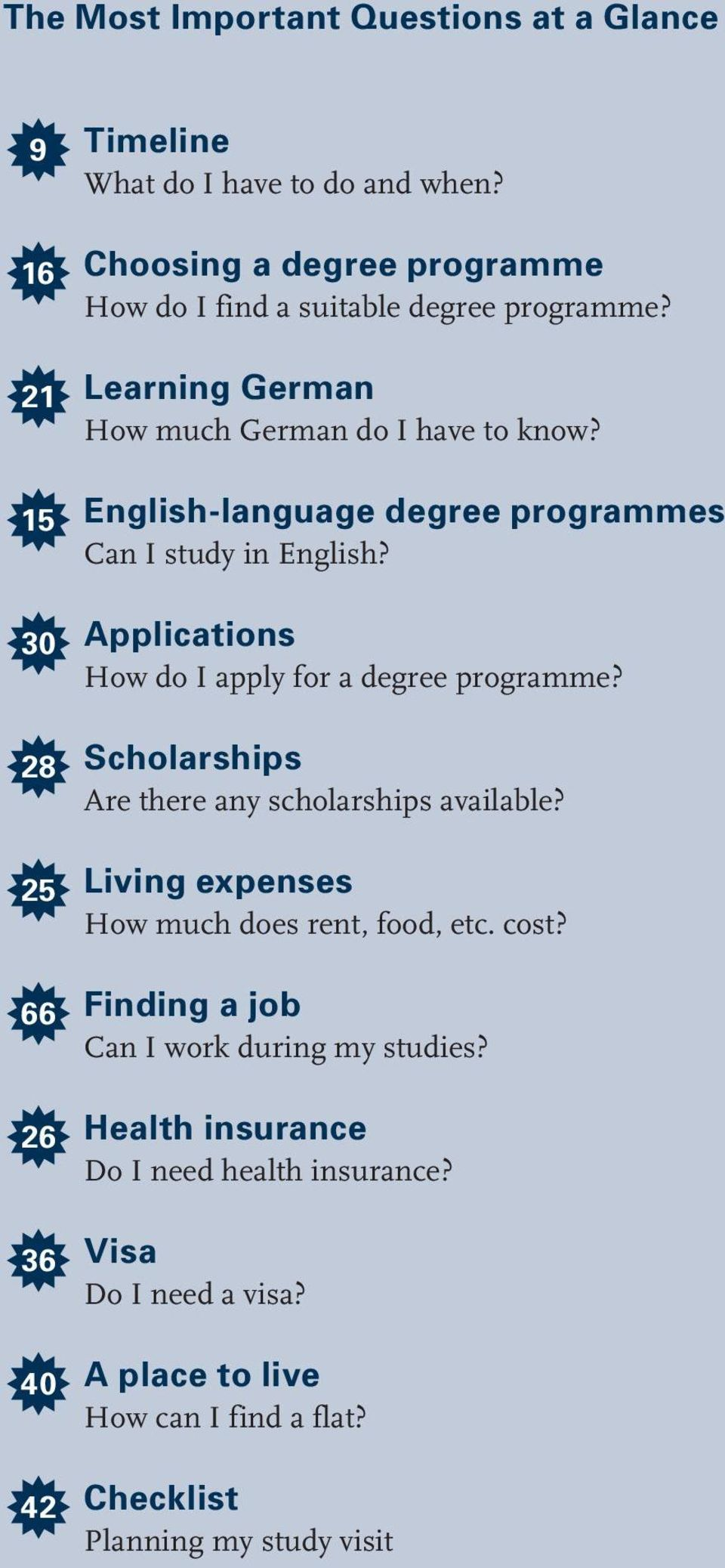 English-language degree programmes Can I study in English? 30 ƒ Applications How do I apply for a degree programme?