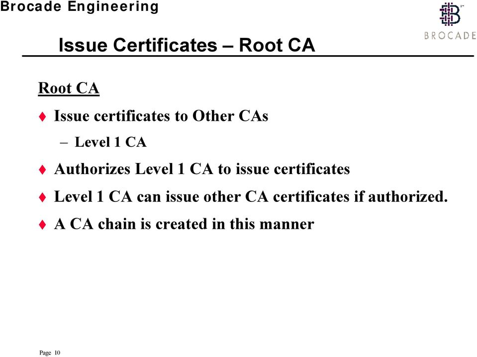certificates Level 1 CA can issue other CA certificates