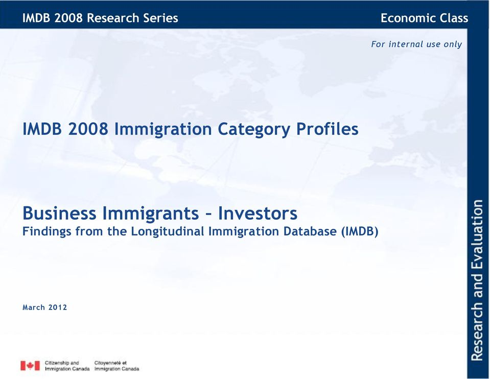 Profiles Business Immigrants Investors Findings