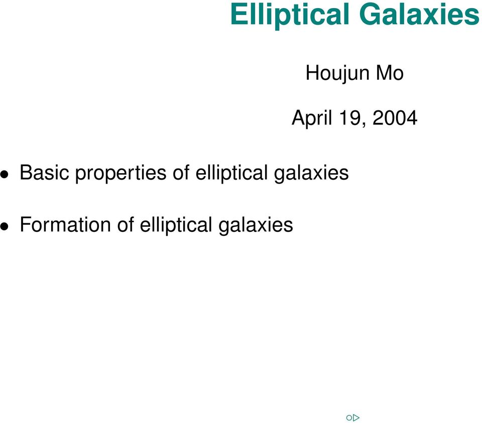 properties of elliptical