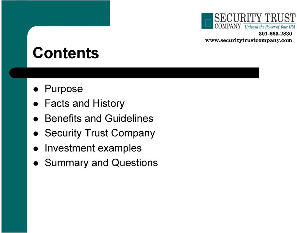 Guidelines Security Trust