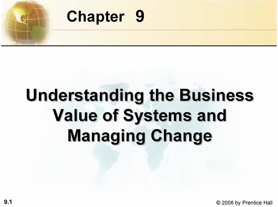Business Value of