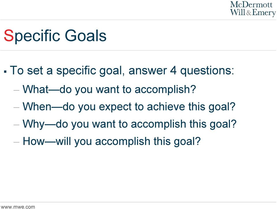 When do you expect to achieve this goal?