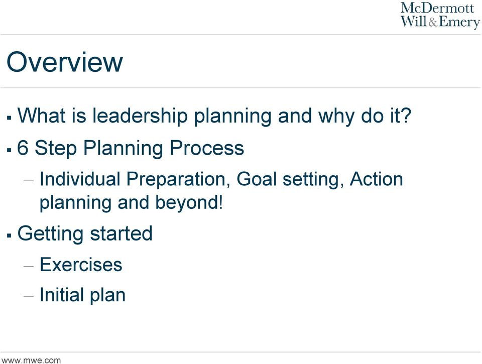 6 Step Planning Process Individual