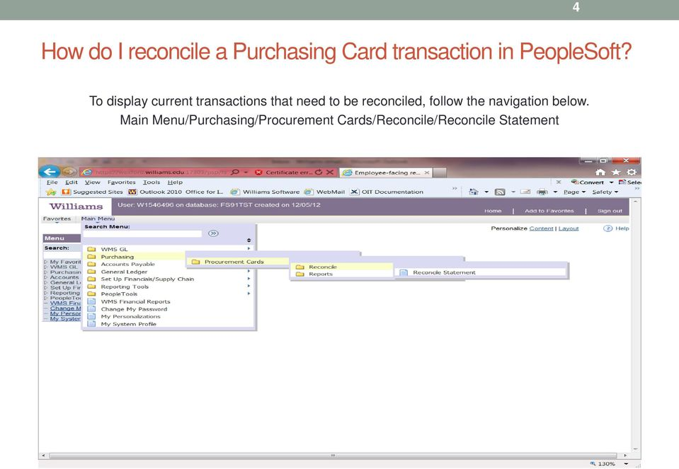 To display current transactions that need to be