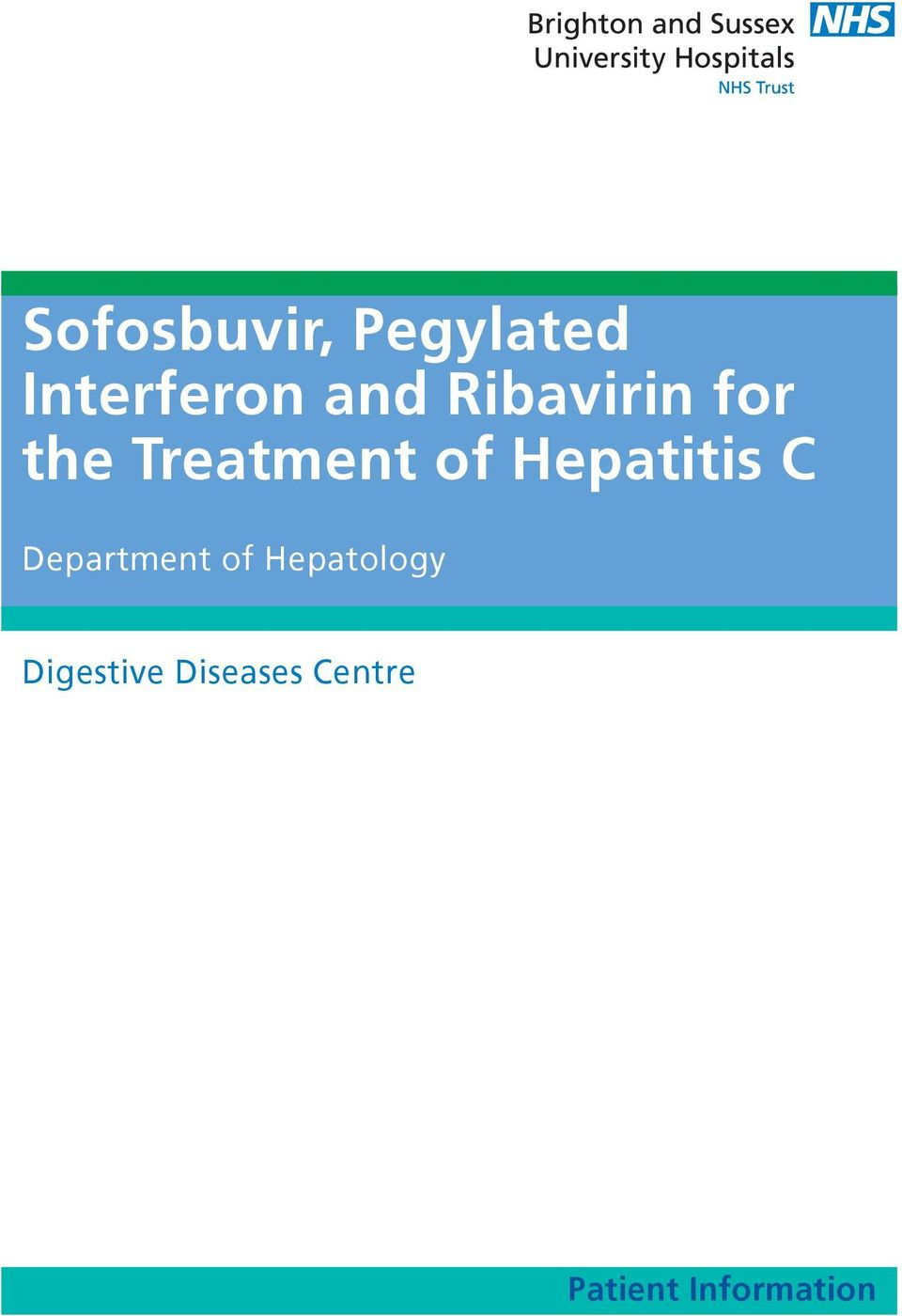 Hepatitis C Department of Hepatology