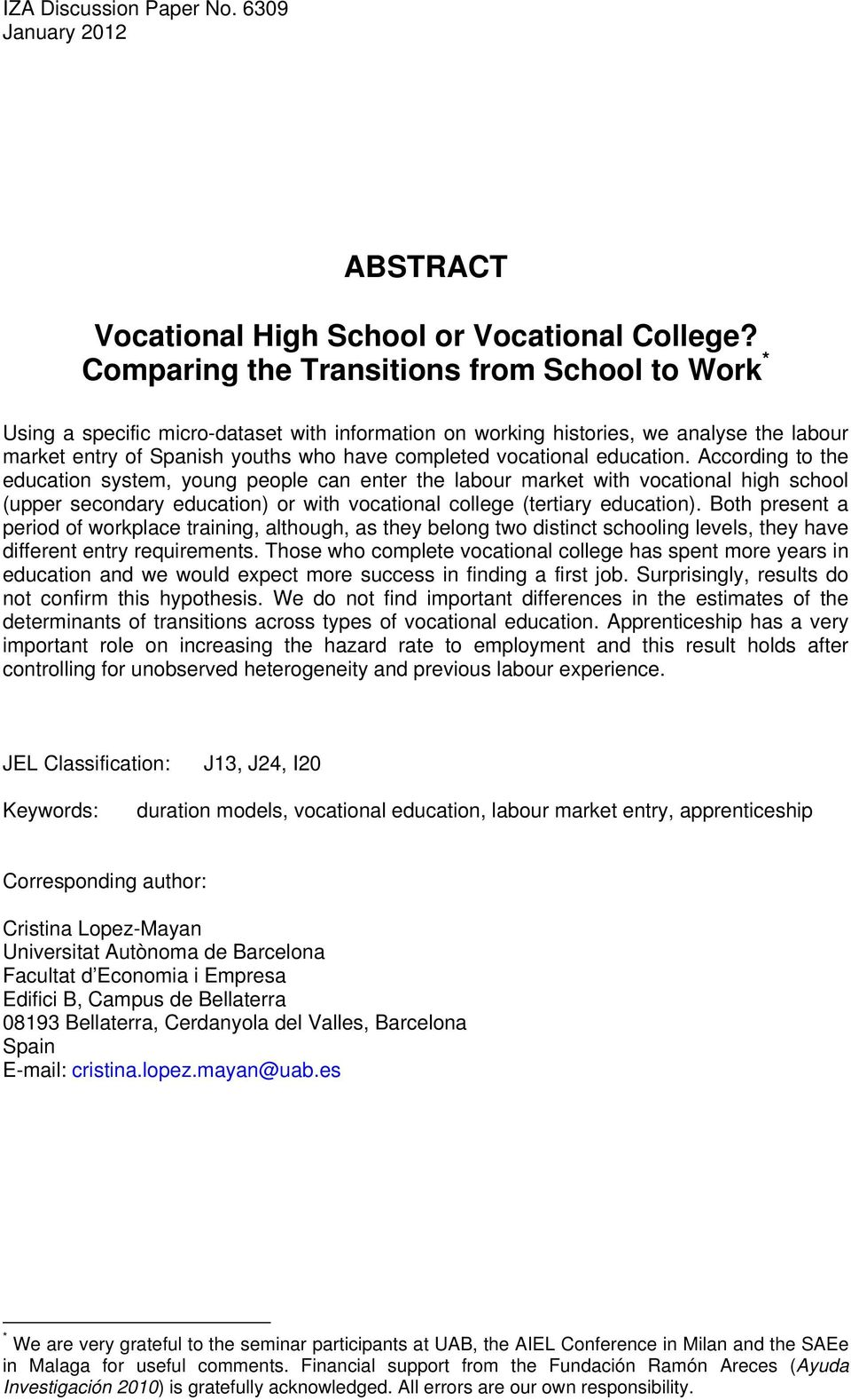 vocational education.
