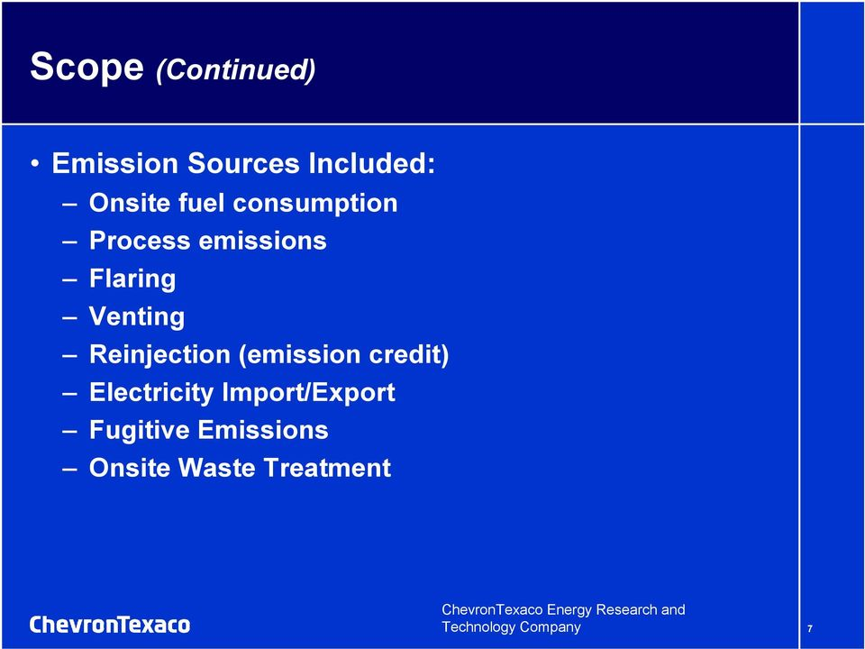 (emission credit) Electricity Import/Export Fugitive