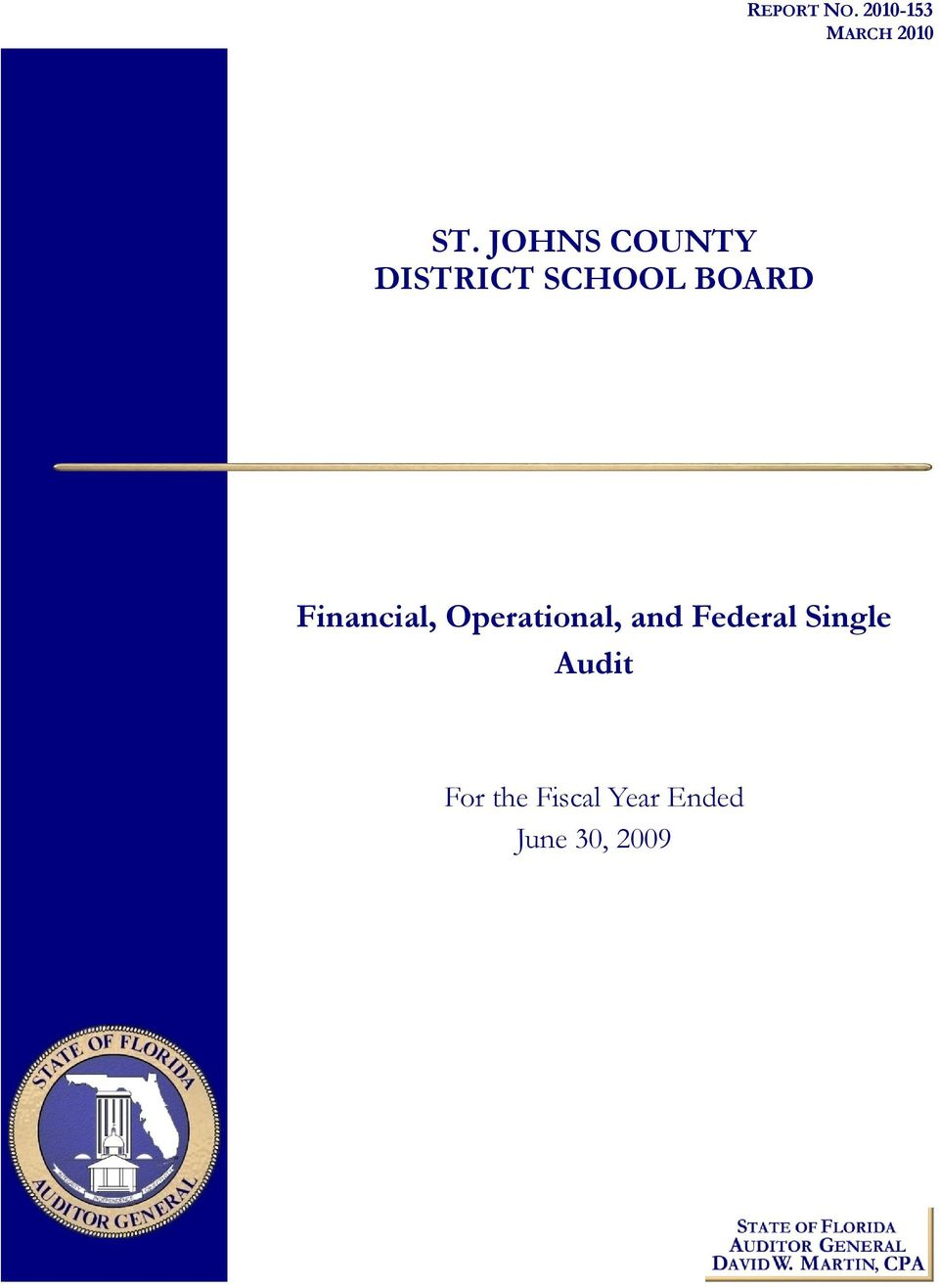 Financial, Operational, and