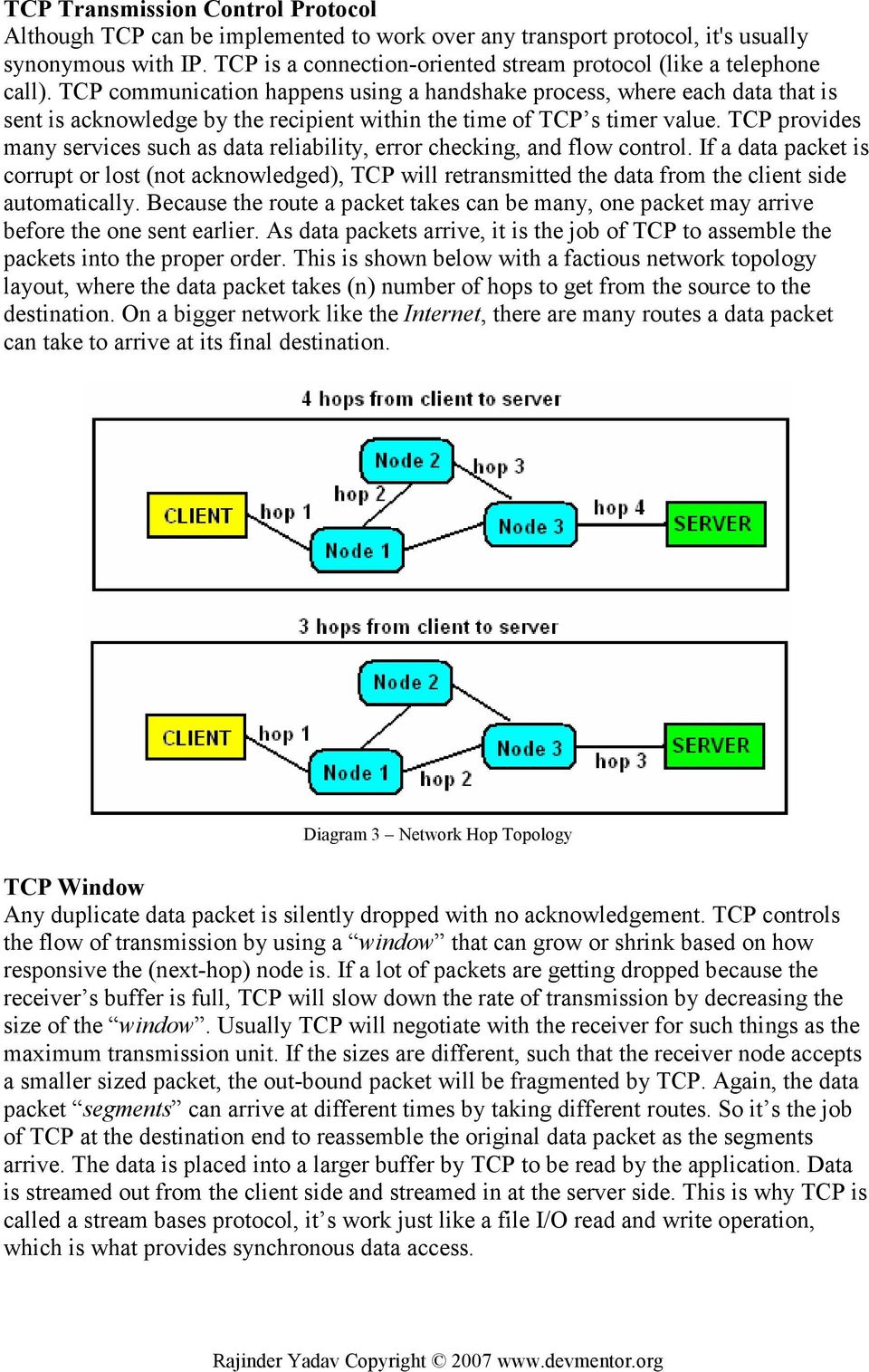 TCP communication happens using a handshake process, where each data that is sent is acknowledge by the recipient within the time of TCP s timer value.