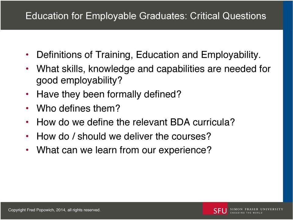 ! What skills, knowledge and capabilities are needed for good employability?