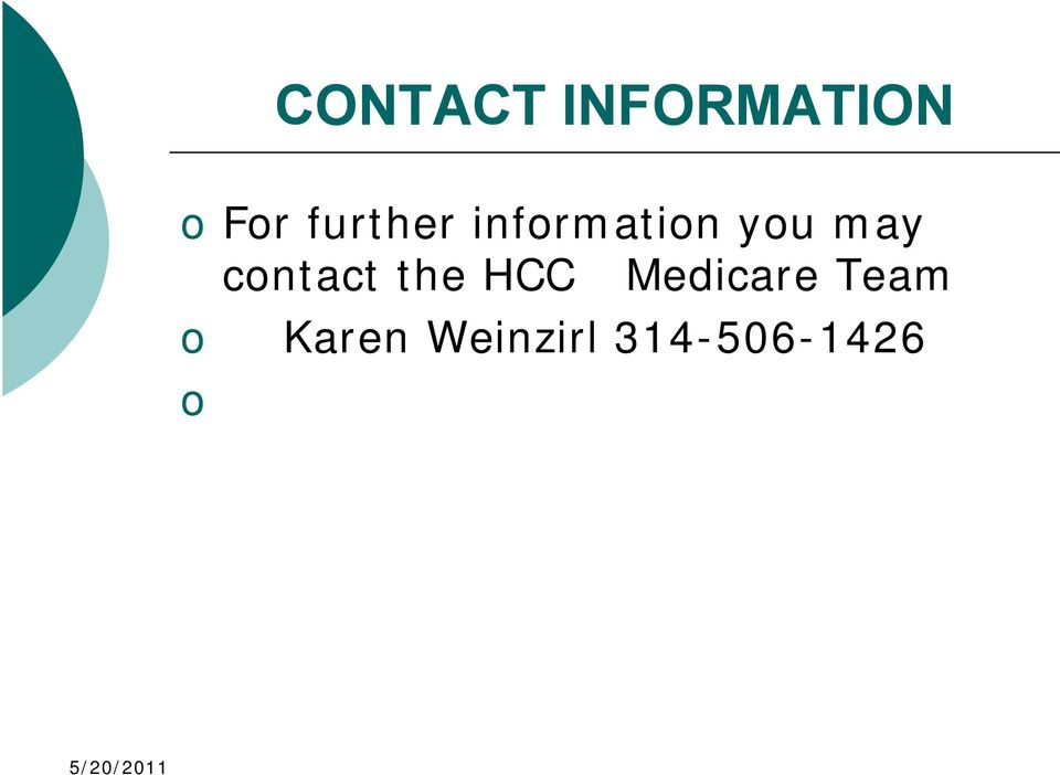 contact the HCC Medicare