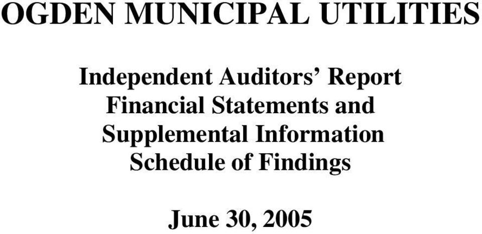 Financial Statements and