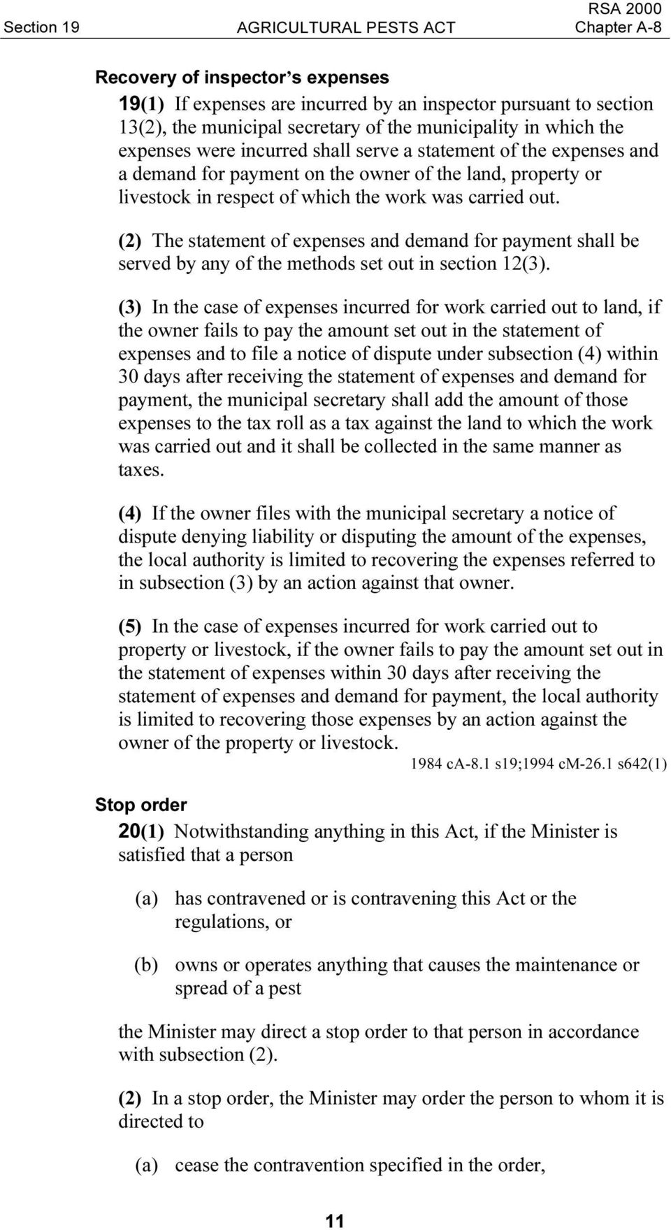 (2) The statement of expenses and demand for payment shall be served by any of the methods set out in section 12(3).