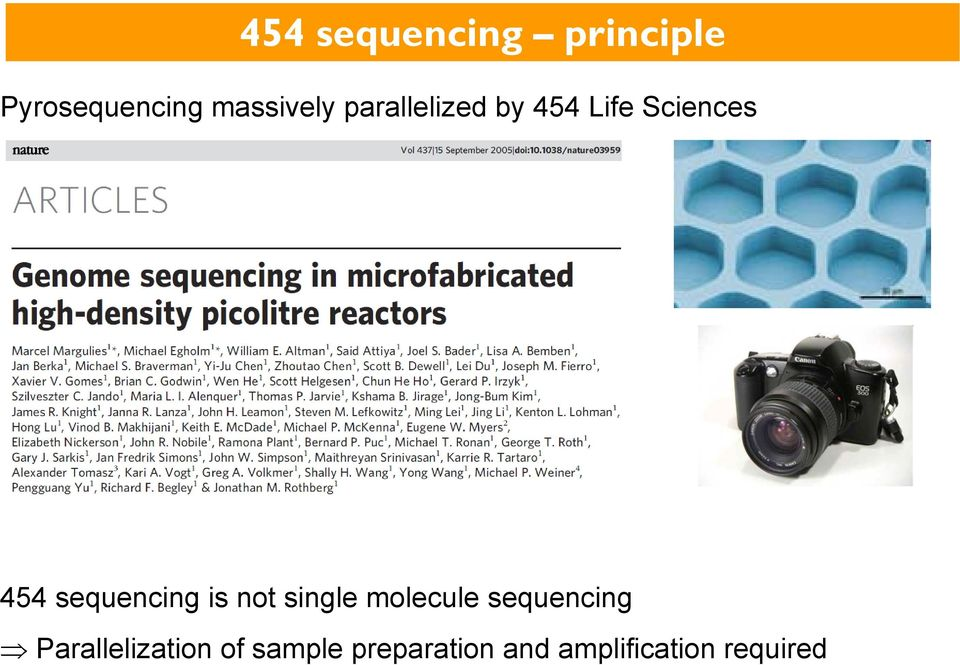 is not single molecule sequencing Parallelization