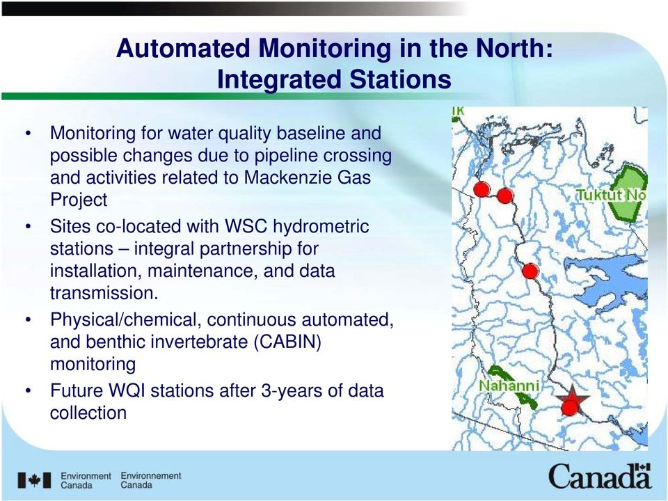 hydrometric stations integral partnership for installation, maintenance, and data transmission.