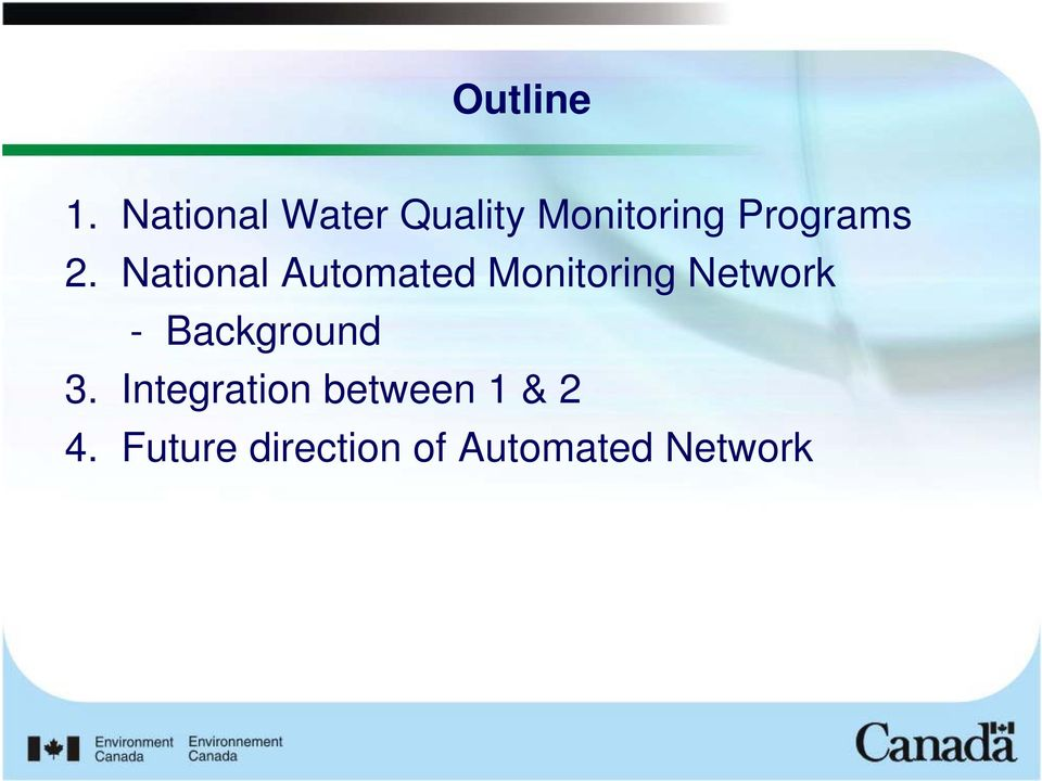 National Automated Monitoring Network -