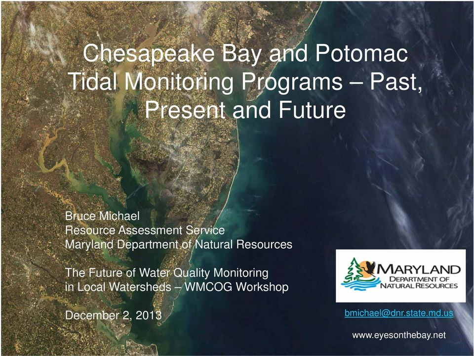 Natural Resources The Future of Water Quality Monitoring in Local