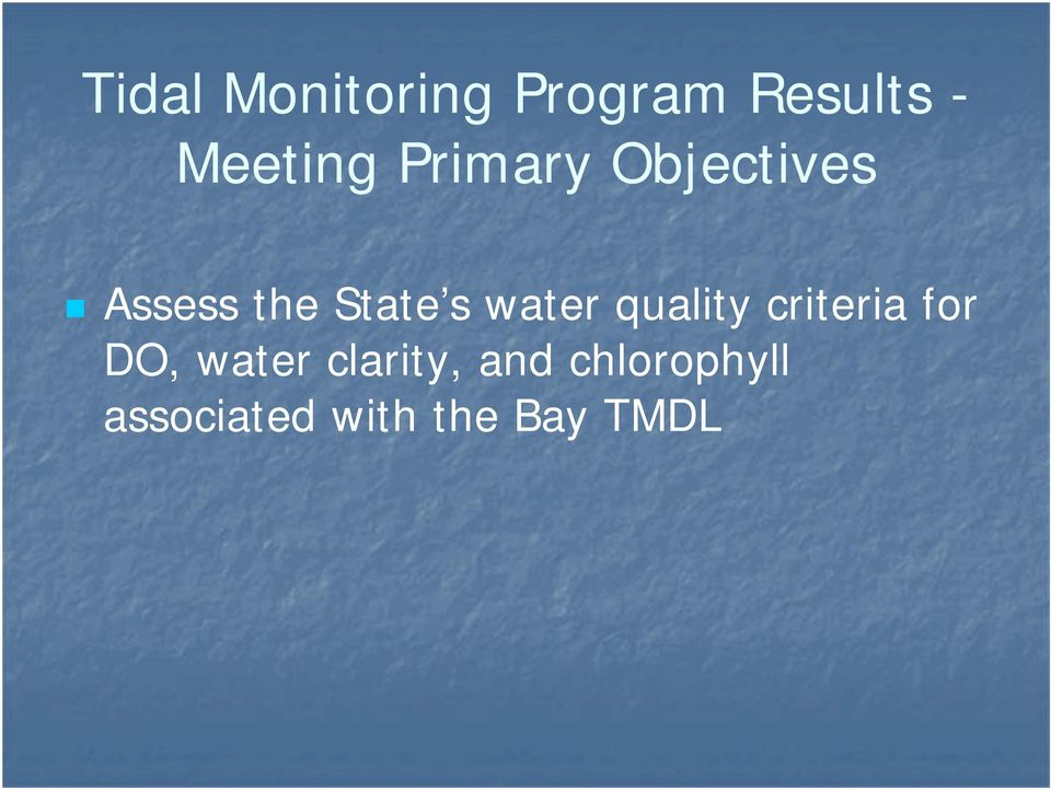 water quality criteria for DO, water