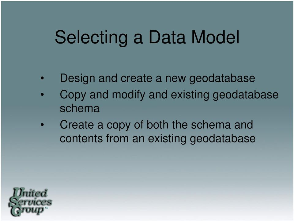 geodatabase schema Create a copy of both the