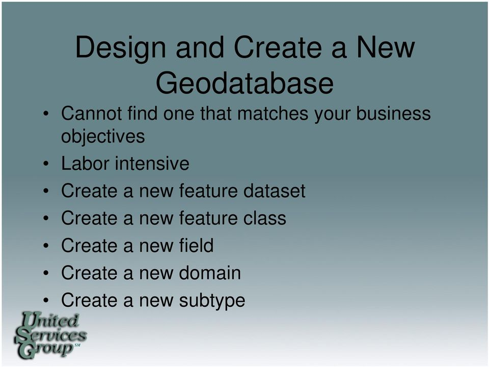 Create a new feature dataset Create a new feature class