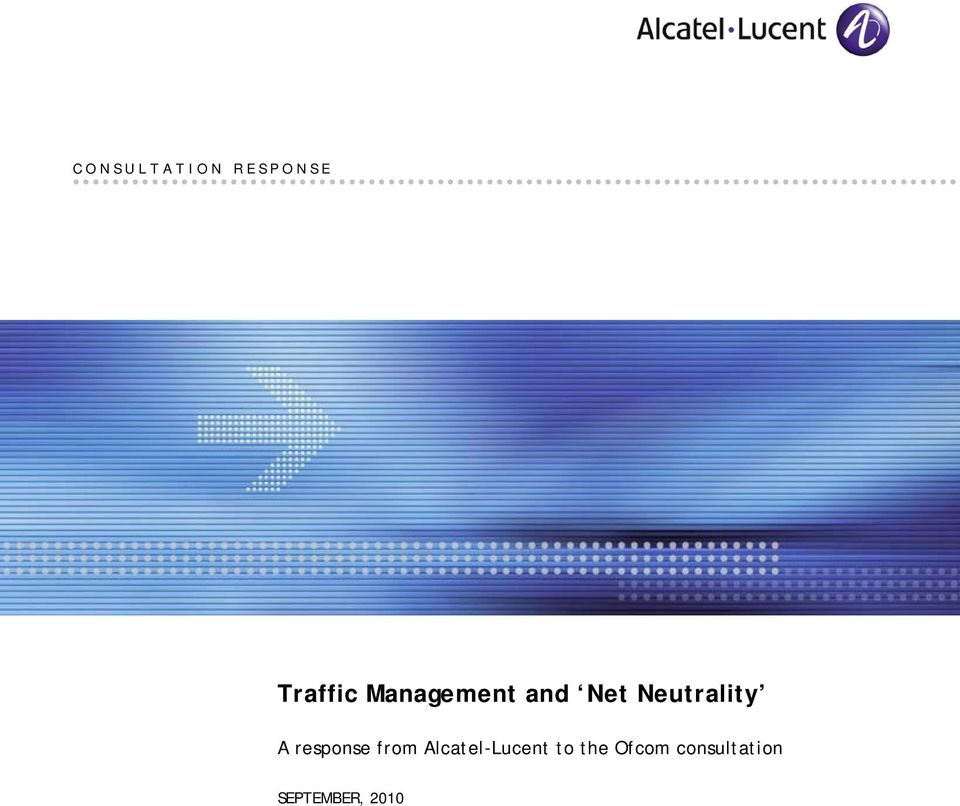 response from Alcatel-Lucent to