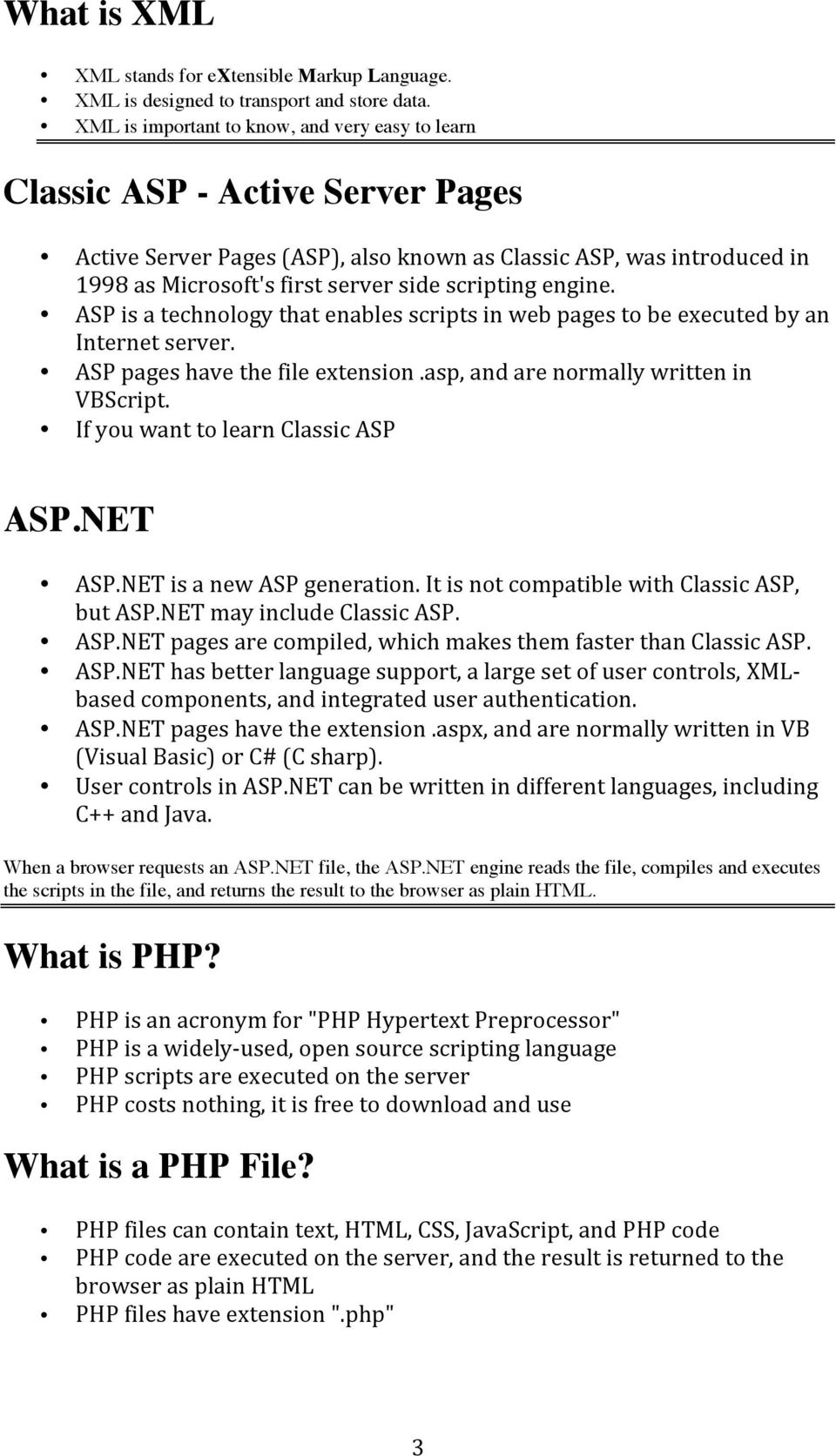 scripting engine. ASP is a technology that enables scripts in web pages to be executed by an Internet server. ASP pages have the file extension.asp, and are normally written in VBScript.